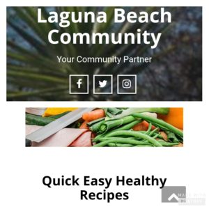 Quick Healthy Recipes for the Laguna Beach Community by Haven Schulz